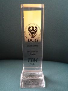 Dolnośląski Certyfikat Gospodarczy dla TIM SA