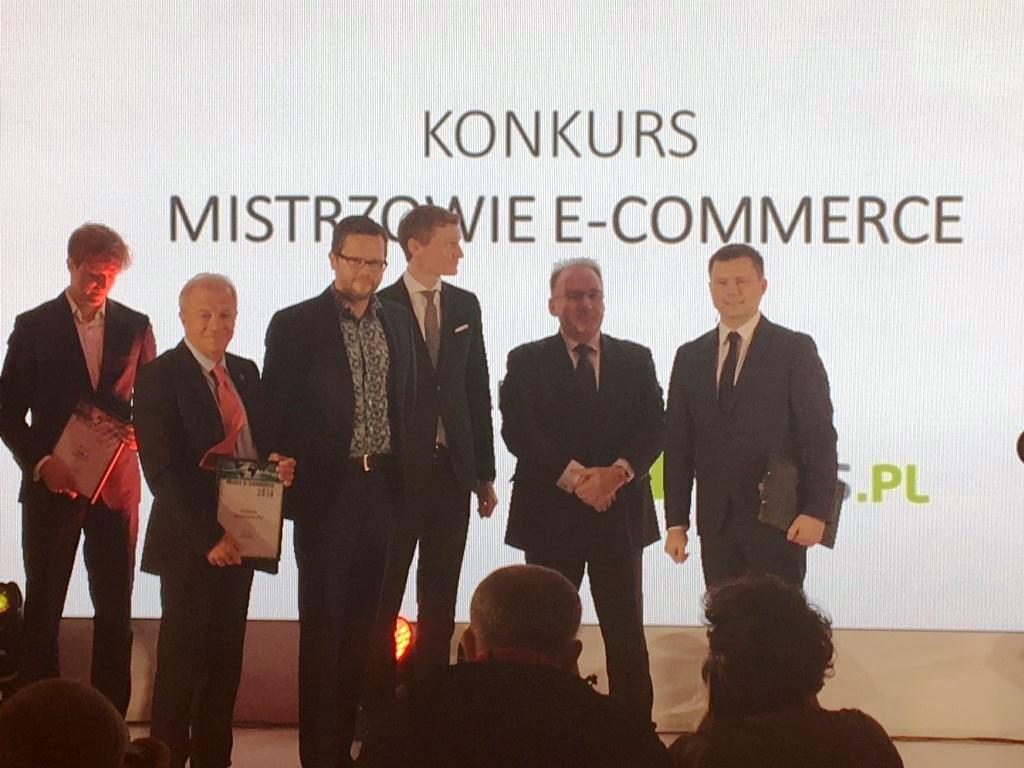 """Wyróżnienie w konkursie """"Mistrzowie e-commerce"""" organizowanym przez tygodnik """"Wprost"""" (2016)"""