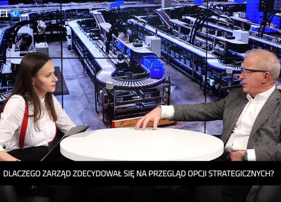 Prezes Krzysztof Folta<br>w Parkiet TV